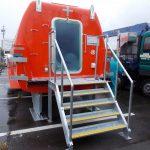 津波避難救命艇「ライフシーダー」設置